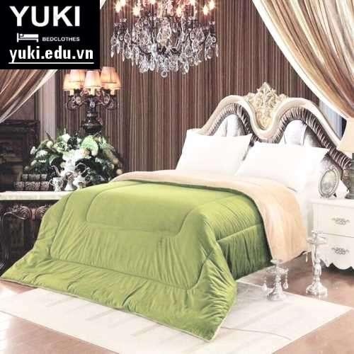 Chăn lông cừu Nhật Bản Yuki màu Xanh Rêu