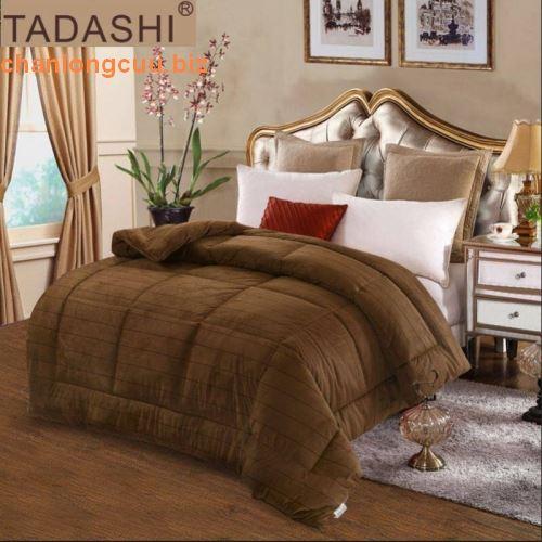Chăn lông thỏ Tadashi nhập khẩu màu nâu đồng