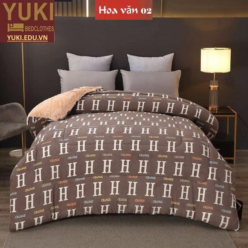 Chăn lông cừu Yuki Sanding hoa văn 02 nhập khẩu chính hãng