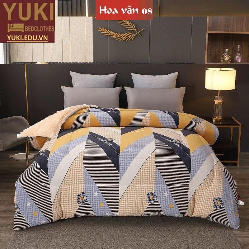 Chăn lông cừu Nhật Yuki Sanding hoa văn 08
