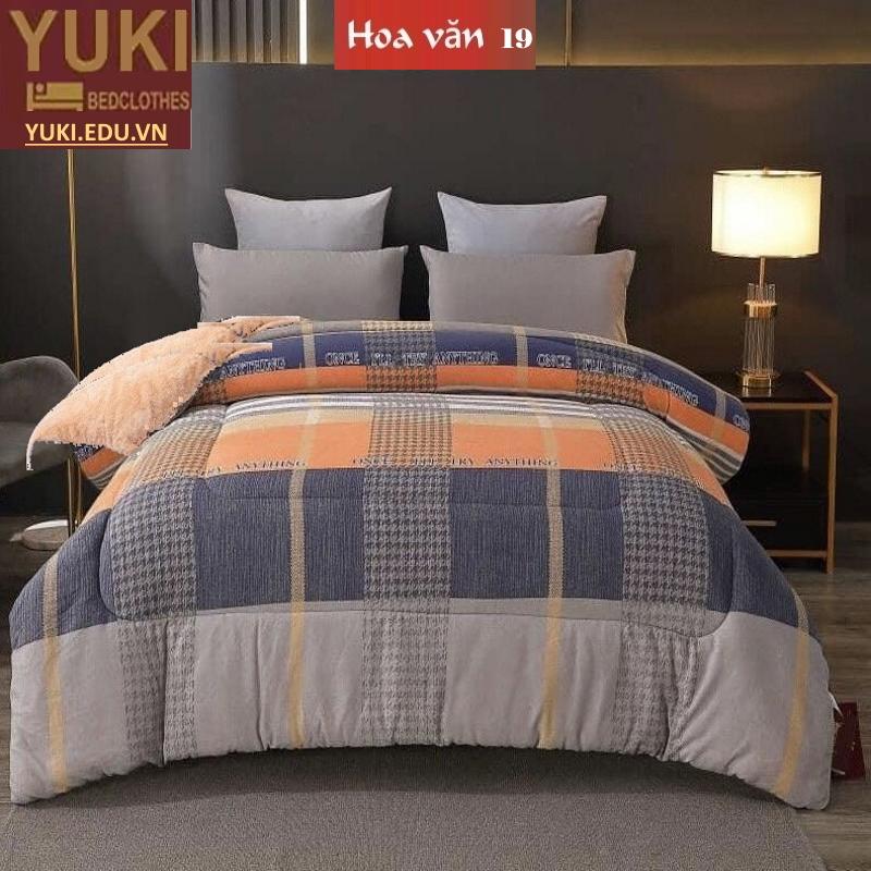 Chăn lông cừu Nhật Yuki Sanding hoa văn 19