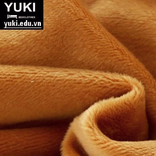 chăn lông cừu yuki japan thu đông màu vàng đậm