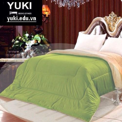 Chăn lông cừu Nhật Bản Yuki Classic màu Xanh Lá