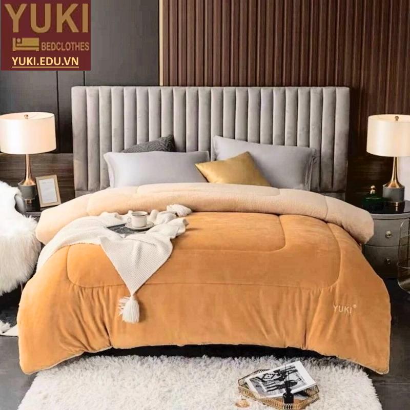 Chăn lông cừu nhật bản Yuki Classic Vàng Be