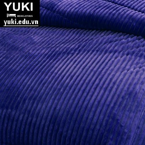 chăn lông cừu yuki queen màu xanh navi hàng nội địa nhật bản