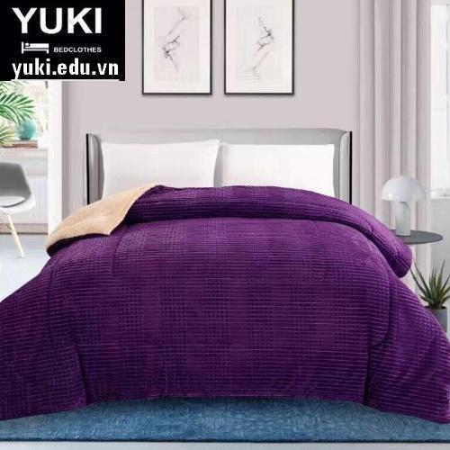 Chăn lông cừu Yuki Queen Màu Tím Nhật bản