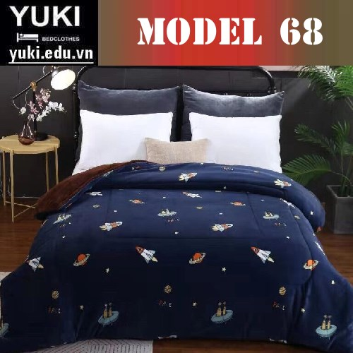 Chăn lông cừu Yuki Japan Brow model 68