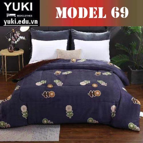 Chăn lông cừu Yuki Japan Brow model 69