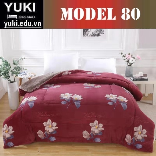 Chăn lông cừu Yuki Japan Brow model 80