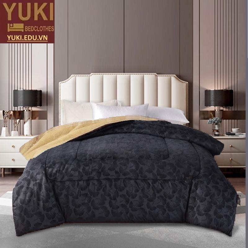 Chăn lông cừu Royal Yuki màu xám đá