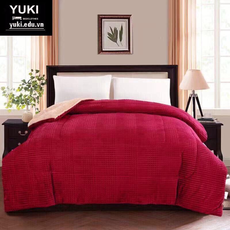 Chăn lông cừu Yuki Royal màu đỏ Ruby