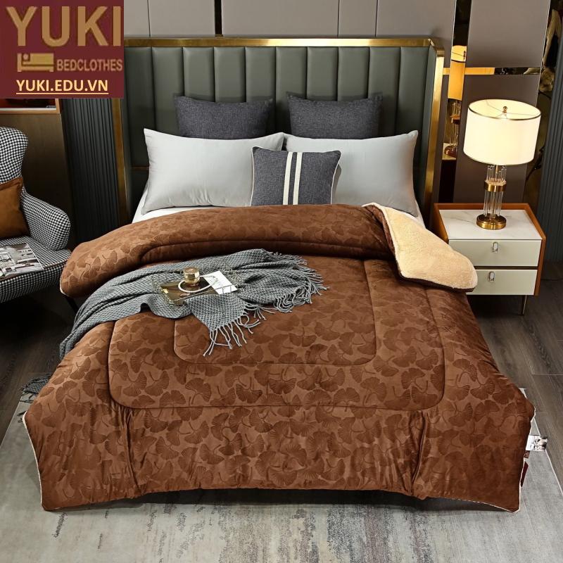 Chăn lông cừu Yuki Royal Màu Nâu Socola