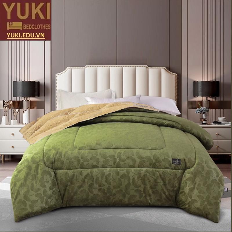 Chăn lông cừu Yuki Royal màu xanh lục